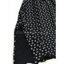 Черная женская ночная рубашка с принтом