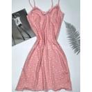 Женская ночнушка розовая с клубничками