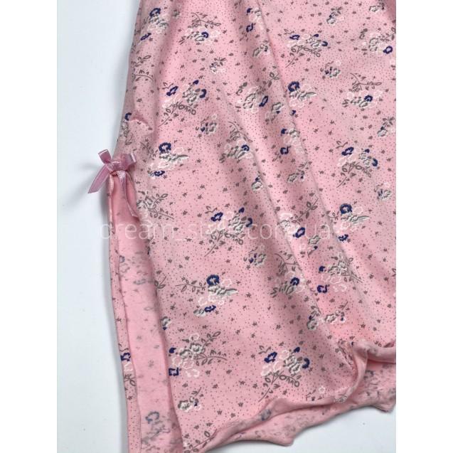 Пудровая женская ночная рубашка