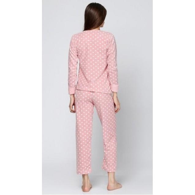 Женская теплая пижама из махры и флиса