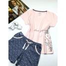 Пижама женская шорты и футболка с принтом