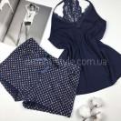 Женская пижама с кружевом и звездочками