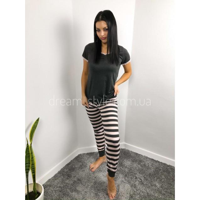 Женская пижама футболка и брюки