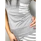 Серая женская хлопковая пижама