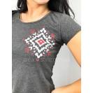 Трикотажная женская пижама бриджи и футболка
