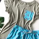 Пижама футболка со штанами с фламинго
