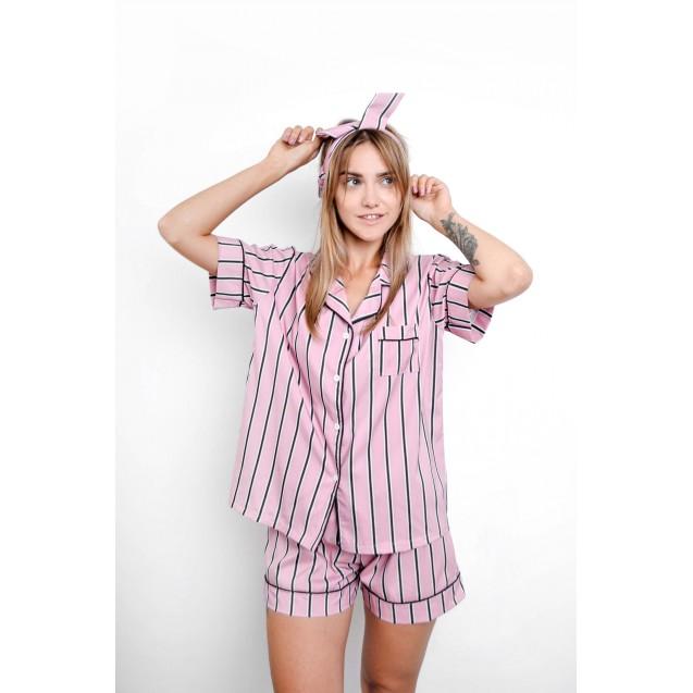 Пижама рубашка и шорты в полоску