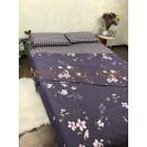 Комплект постельного белья в евро размере Цветы фиолетовые
