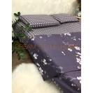 Двуспальное постельное белье Цветы фиолетовое