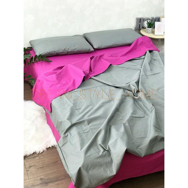 Комплект однотонного постельного белья в евро размере