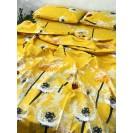 Семейный комплект постельного белья Желтые одуванчики