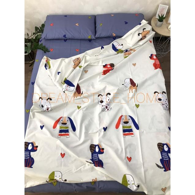 Детскок полуторное постельное белье Собачки