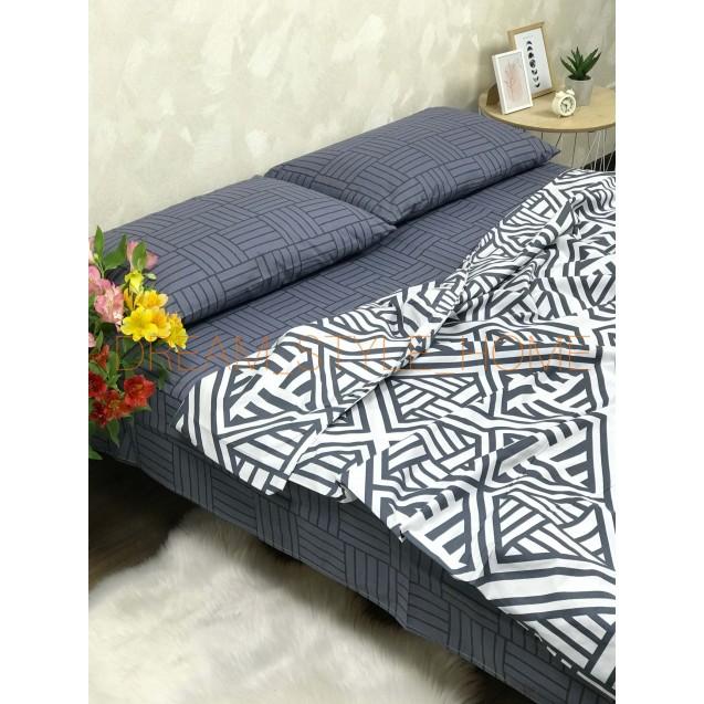 Двуспальное постельное белье Паркет на резинке