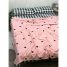 Двуспальное постельное белье из сатина Сердечки