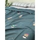 Двуспальное постельное белье из сатина Кактус
