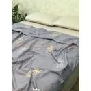 Постельное белье в евро размере из сатина Ананасик