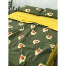 Евро постельное белье Авокадо на резинке