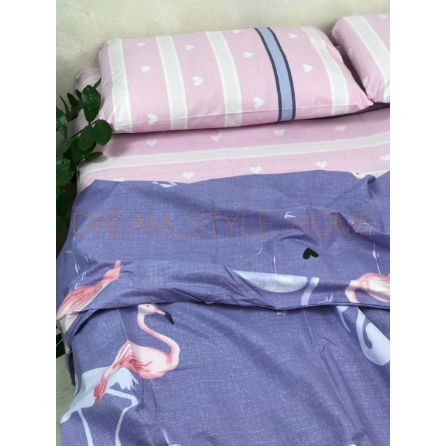 Постельное белье евро размер Flamingo