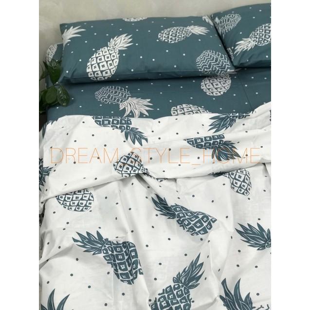 Комплект постельного белья евро размер Ананас