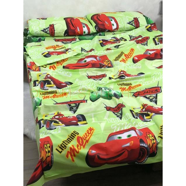 Детскок полуторное постельное белье McQueen салатовая