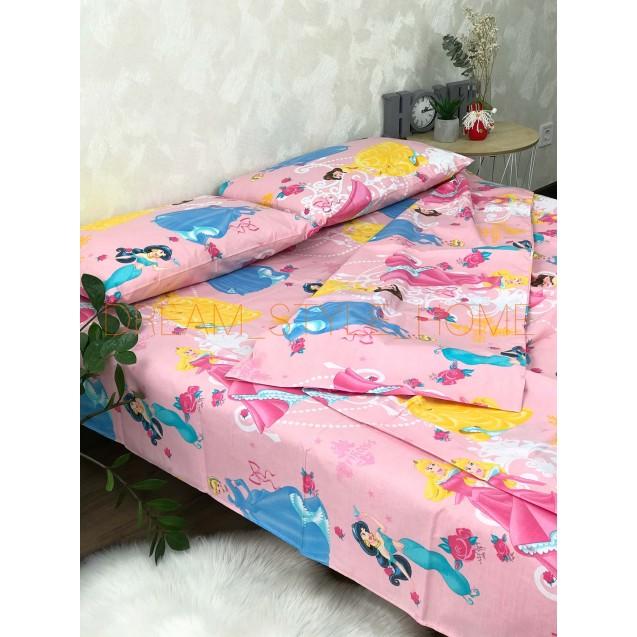 Детскок полуторное постельное белье  Принцесса