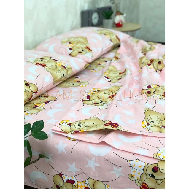 Детскок полуторное постельное белье Мишки