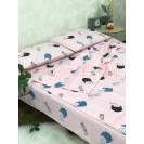 Детскок полуторное постельное белье Котики