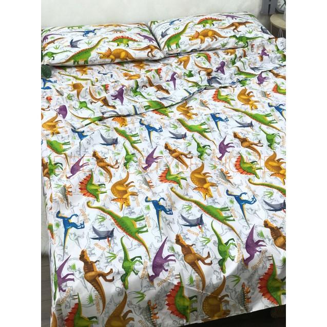Детскок полуторное постельное белье  Динозавры
