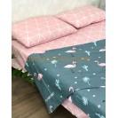 Полуторное постельное белье Фламинго