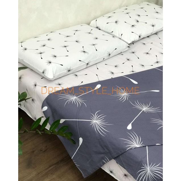 Двуспальное постельное белье Семена одуванчика на резинке