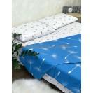 Двуспальное постельное белье Одуванчики голубые
